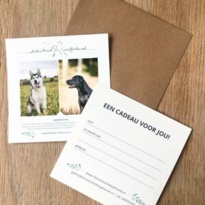 cadeaubon van fotoshoot met je hond een cadeau voor jou!